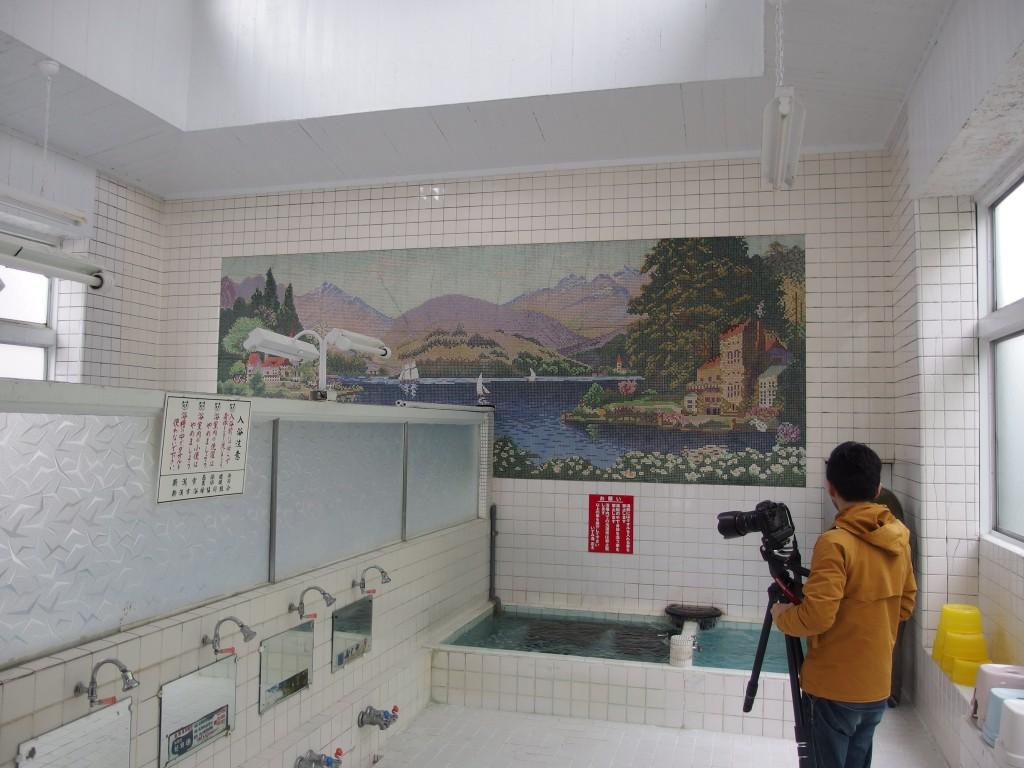 新潟市内 銭湯で撮影