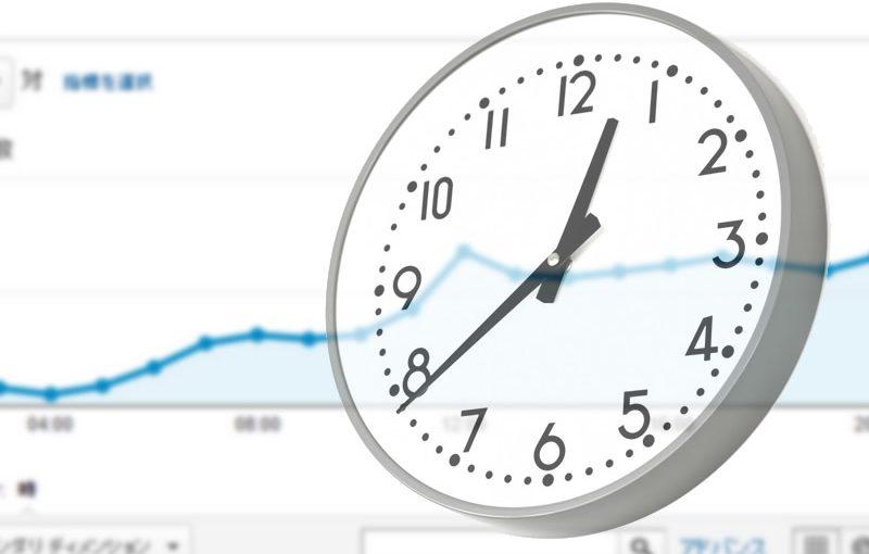 Google Analyticsで時間毎のアクセス数を見る。